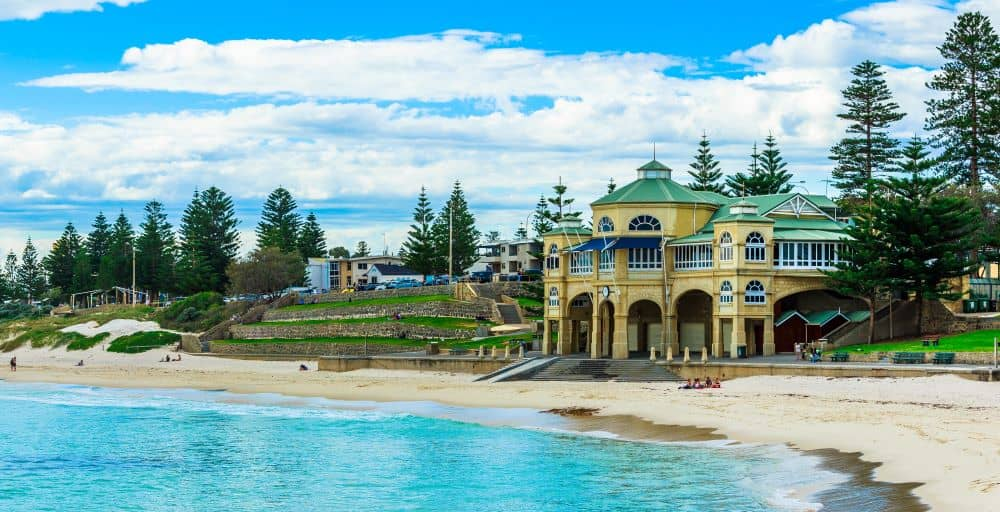 Cottesloe Beach is a popular spot for swimming, snorkeling, and surfing.
