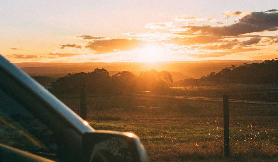 roadtrip sunset australia
