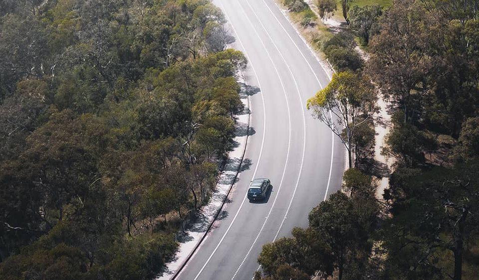 australian car on road trip